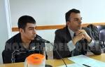 Rodriguez junto al Defensor Público Marcos Ponce
