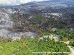 El fuego llegó al patio de la escuela de la Villa Futalaufquen
