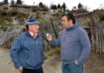 Entrevistando al carrero Bernardino Diaz