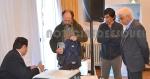 Gustavo Macayo y Pablo Quintana presentan la denuncia ante la mirada del Consejero por Esquel Horacio Crea